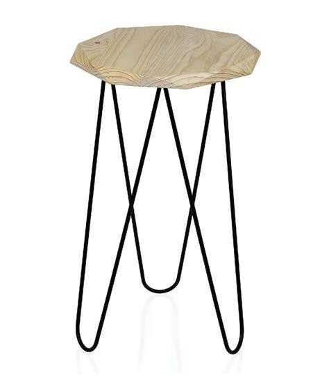 Table D Appoint Metal Noir by Table D Appoint Octogonale En Bois Et M 233 Tal Noir Wadiga