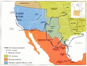 map of america and mexico mexican war maps