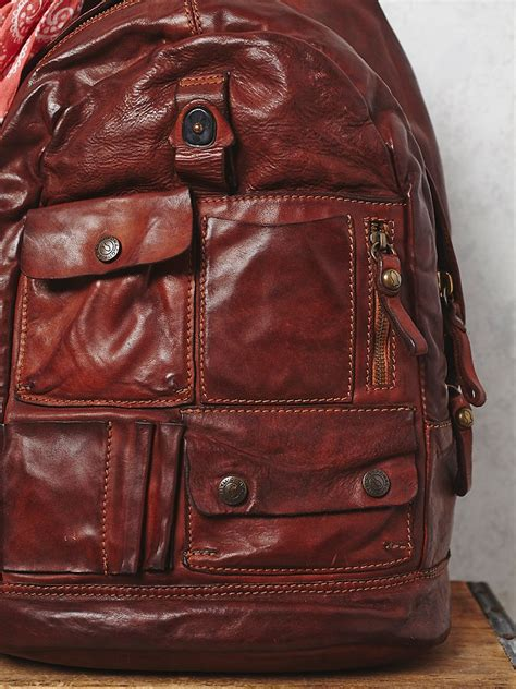 rugged leather backpack free comaggi womens rugged leather backpack in brown lyst