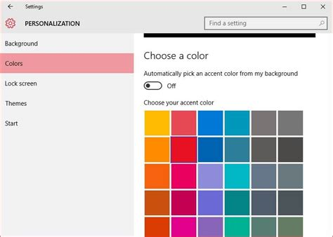 border color how to change window border color in windows 10