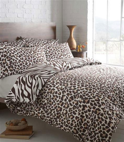 Animal Print Duvet Cover Brown Leopard Print King Size Duvet Quilt Cover Set Zebra