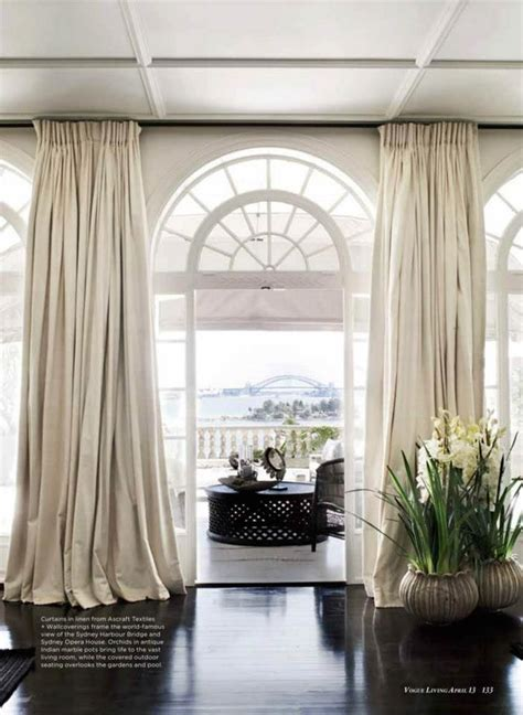 curtains for arch window photo by prue ruscoe for vogue living interior family