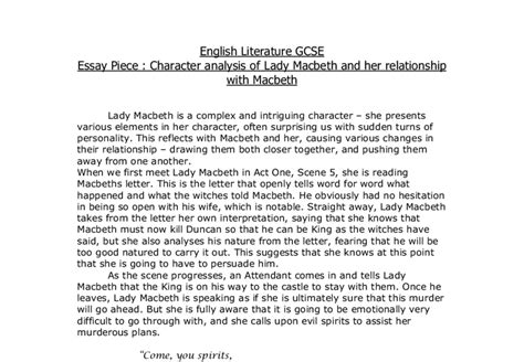 Macbeth Gcse Essay by Analysis Of The Relationship Between Macbeth And Macbeth Gcse Marked By