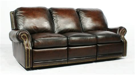 Sectional Reclining Sofas Leather by Creme Reclining Leather Sofa With Vintage Design