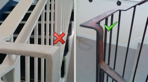 Dc Handrails exles of correct and incorrect fabrication dc plastic handrails ltd