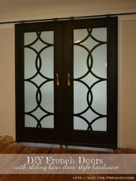 Home Decor Sliding Doors by My Finished Sliding Barn Door Style French Doors