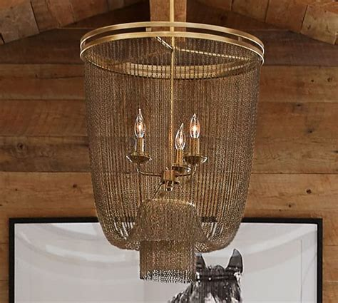 Pottery Barn Chandeliers Atherton Chainmail Chandelier Pottery Barn