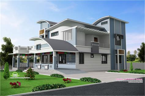 Creative House Plans by Modern Unique Style Villa Design Kerala Home Design And