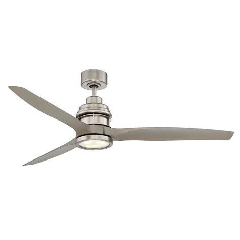 satin nickel ceiling fan radionic hi tech pertoria 60 in 2 blade textured bronze