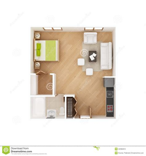 What Does 300 Square Feet Look Like studio apartment floor plan isolated on white stock