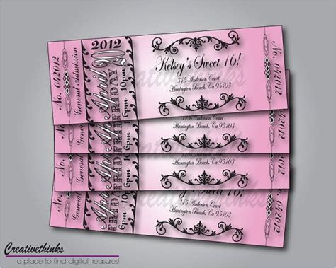 sweet 16 invitation templates free sweet 16 birthday invitations free templates