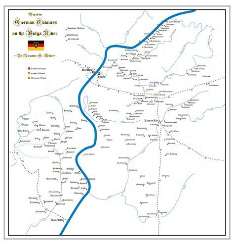 volga river map the center for volga german studies at concordia