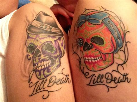 skull tattoos for couples 199 best images about skull tattoos on
