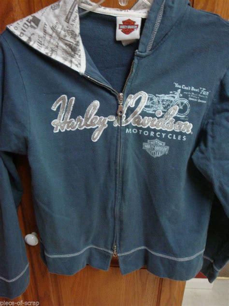 Vest Zipper Hoodie Harley Davidson 06 harley davidson hooded sweatshirt small s hoodie zip front jacket bli