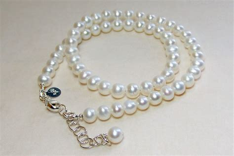 Handmade Pearl Jewelry Designs - handmade pearl necklace with sterling silver by bliss