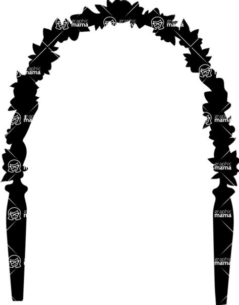 Wedding Vector Silhouette by Wedding Ceremony Flower Arch Vector Silhouette Graphicmama