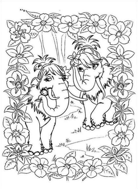 ice age coloring pages pdf ice age two female mammots coloring page coloringplus