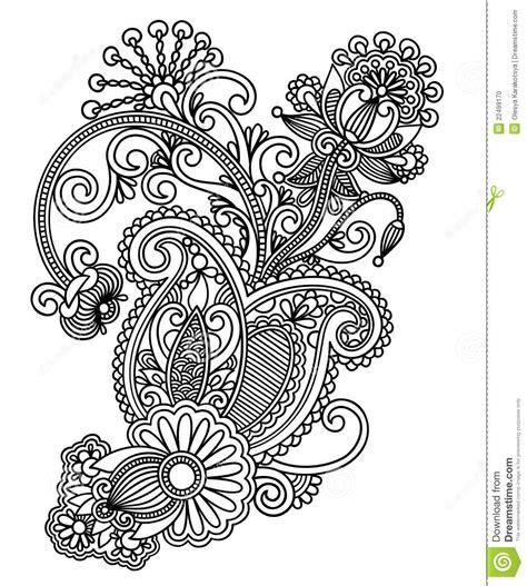 pattern design line art line art ornate flower design stock photo image 22499170