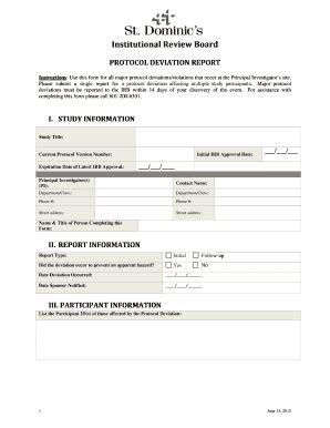 protocol deviation form template protocol deviation form template images template design