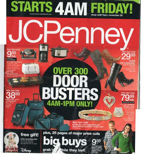 kitchen collection black friday jcpenney doorbusters black friday 2010 opening time and