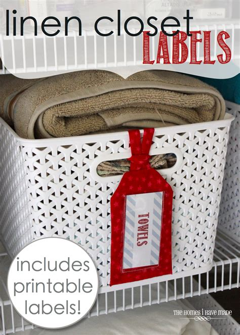 Closet Label by Linen Closet Labels With Free Printable Labels The