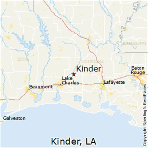 kinder louisiana map best places to live in kinder louisiana