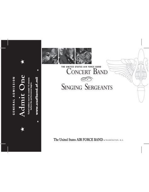 Band One Sheet Template by Concert Band Ticket Template Free