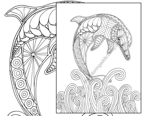 coloring pages for adults dolphins dolphin coloring page adult coloring sheet nautical
