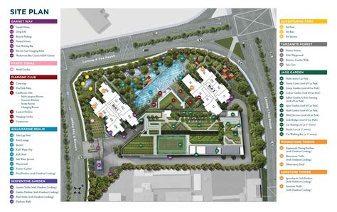 site floor plan site plan gem residences