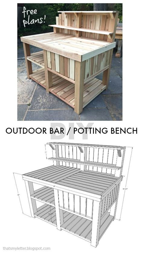 diy outdoor bar potting bench  plans scrapworklove getbuilding diy outdoor bar