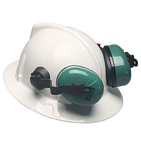 msa 10034487 brim hat ear muffs 25db