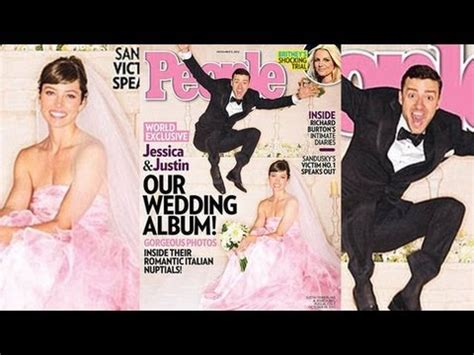 jessica biel and justin timberlake's wedding photos in