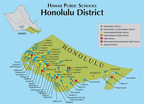 honolulu map hawaii doe oahu map