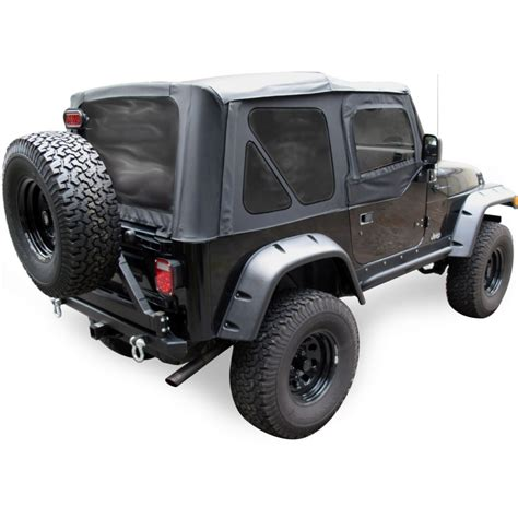 97 Jeep Wrangler Parts Jeep Wrangler Soft Top Tinted Windows Black W