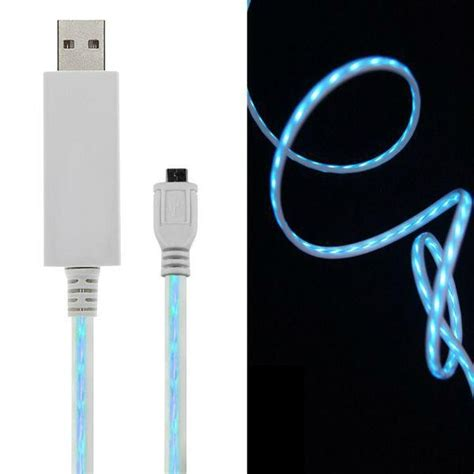 Led Samsung S4 new visible led light micro usb sync charger cable for samsung galaxy s4 htc etc china