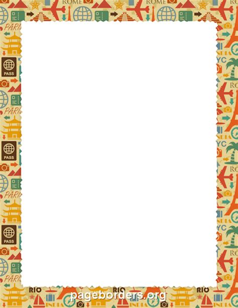 free printable african stationary travel border page borders pinterest border