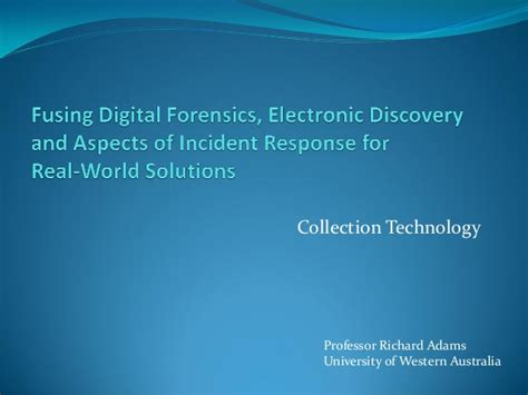oracle incident response and forensics preparing for and responding to data breaches books fusing digital forensics electronic discovery and