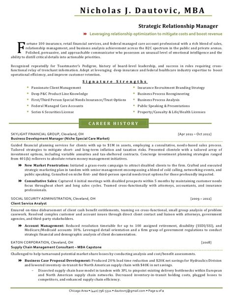 Insurance Resume Nicholas Dautovic Resume Insurance