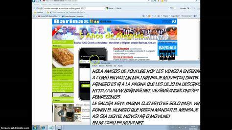 movilnet mensaje gratis enviar mensaje gratis movilnet movistar y digitel youtube