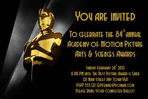 Vanity Fair Oscar Invitation Oscar Invite Hmh Designs