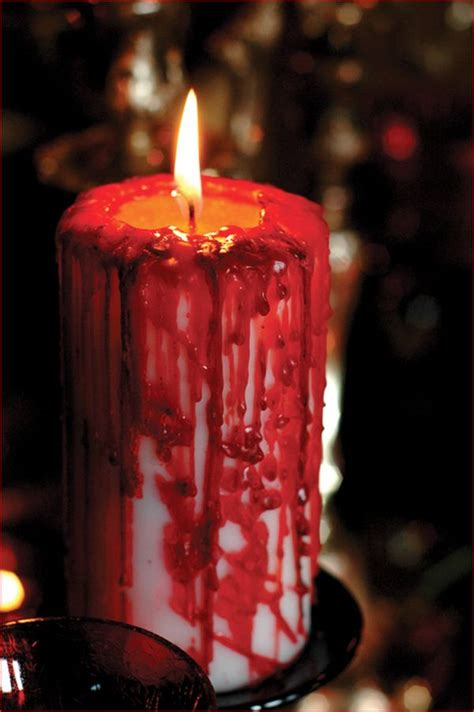 Diy Bloody Candles by 20 Scary Decorations