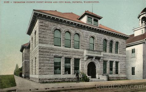 Thurston County Court Search Thurston County Court House And City Olympia Wa Postcard