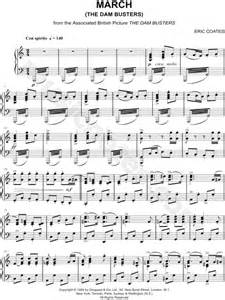 Theme Music Dambusters | eric coates quot the dam busters march quot sheet music piano