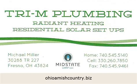 M M Plumbing by Tri M Plumbing Ohio Amish Country Biz