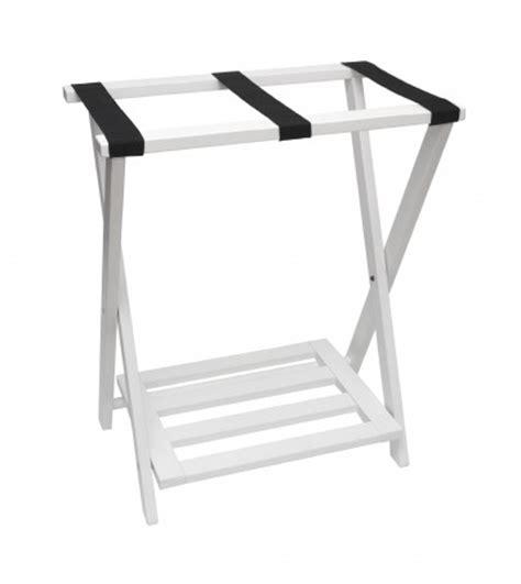 Folding Luggage Rack With Bottom Shelf right height folding luggage rack with bottom shelf white