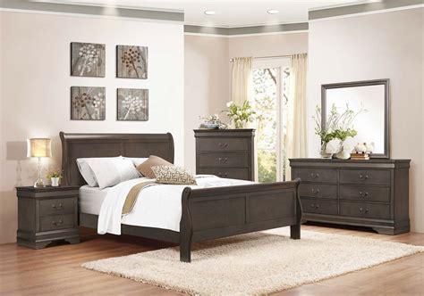 homelegance bedroom set homelegance mayville sleigh bedroom set stained grey