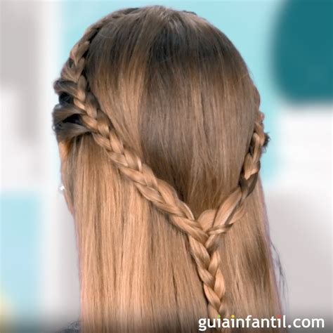 Como Hacer Peinados De Trenzas Para Ninas | c 243 mo hacer una trenza de coraz 243 n peinados para ni 241 as