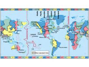 Time Zone Change Map by Time Zone Changes Aviationknowledge