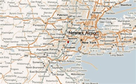 new jersey usa map location newark international airport location guide