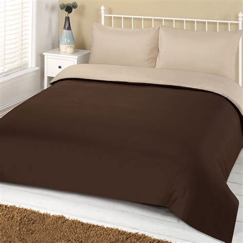 Plain Duvet Cover brentfords plain duvet cover with pillowcase reversible